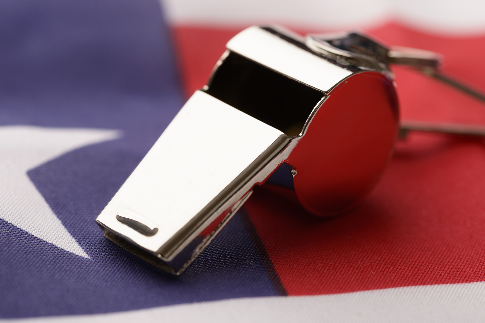 Whistle On American Flag