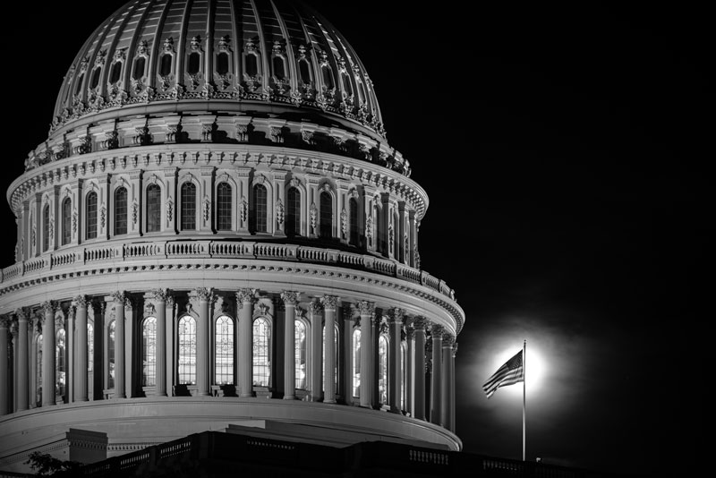US Capitol at Night