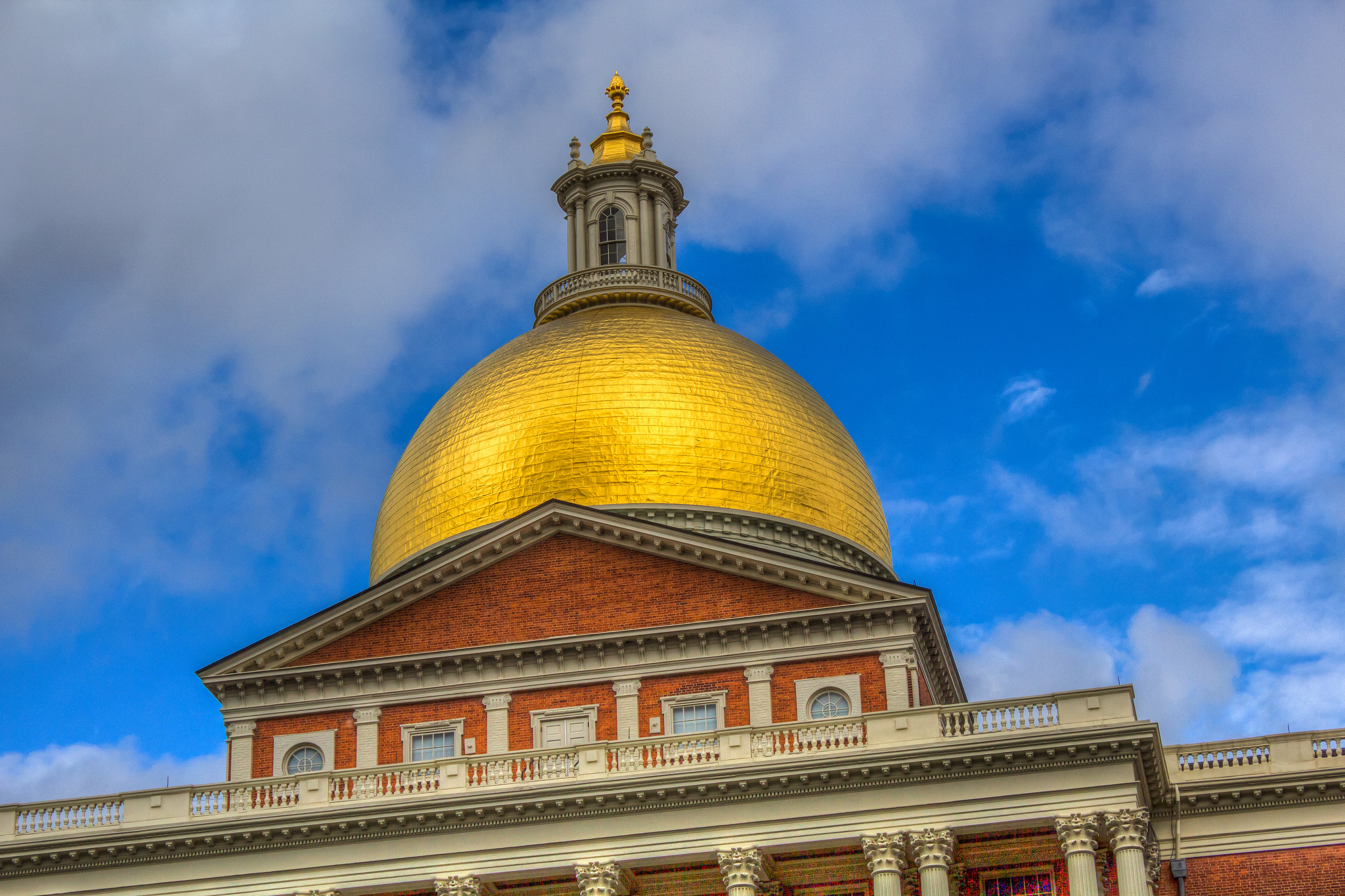 The dome of the Massachusetts State Capitol