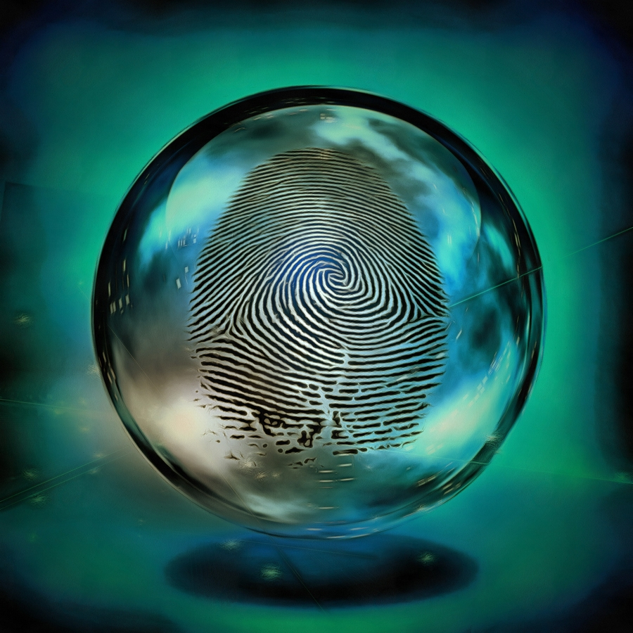 Finger Print in Crystal Ball