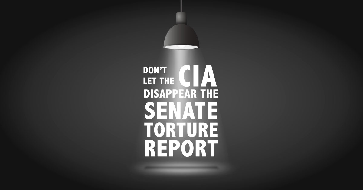 Don't Let the CIA Disappear the Senate Torture Report