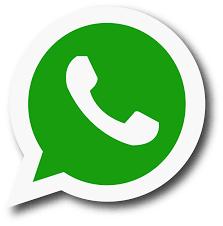 WhatsApp logo a green cartoon voice bubble with a phone inside
