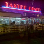 retro neon sign at Tastee Diner in Silver Spring